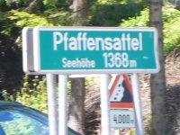 Schild auf dem Pfaffensattel