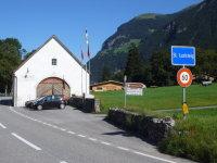 Sankt Luzisteig nahe der Grenze zwischen Liechtenstein und der Schweiz