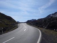 Straße auf den Flüelapass