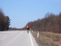 Radfahrer von hinten